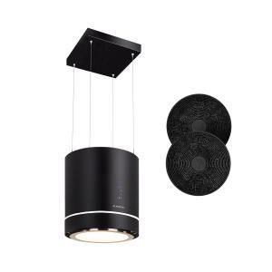 Tron Ambience Inselabzugshaube Ø38cm Umluft 540m³/h LED schwarz Schwarz
