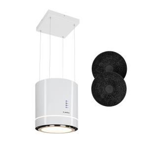 Tron Ambience Inselabzugshaube Ø38cm Umluft 540m³/h LED weiß Weiß