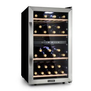 Vinamour 45D -viinikaappi 2 aluetta 118 l / 45 pulloa 5–18 °C ruostumaton teräs 45_bottles | 2 jäähdytysvyöhykettä