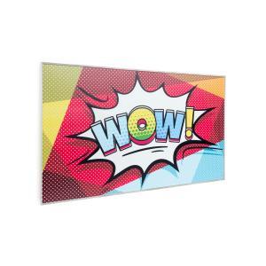 Wonderwall Air Art 60, infraczerwony grzejnik, 101 x 60 cm, 600 W, naścienny montaż, pilot sterowania, biały Design_surface_pop_art