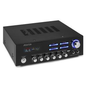 AV120BT stereo-hifivahvistin 120 W RMS (2 x 60 W @ 8 ohmia) bluetooth/USB/AUX