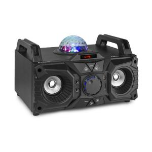 KAR100, sing station, 100 W, akumulator, USB, bluetooth, AUX wejście, czarna