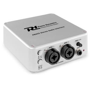 PDX25, interfejs audio stereo, z oprogramowaniem Audacity