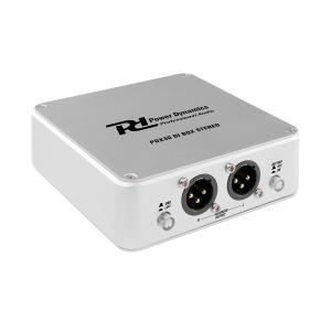 PDX30 DI box stereo symmetrisk XLR-utgång aluminium