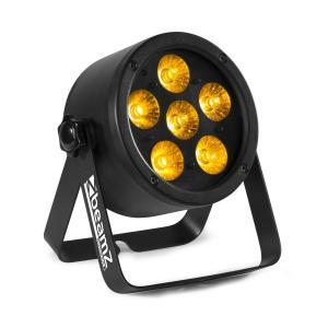 Professional BAC302 ProPar 6 x 12 W 6 in 1 LED-valot RGBWA-UV himmennin kaukosäädin