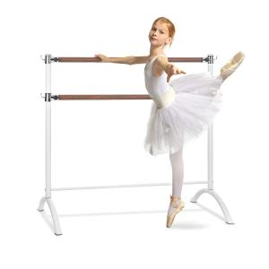 Barre Anna dubbele balletstang 110 x 113 cm 2 x 38 mm Ø wit Wit | 110 cm
