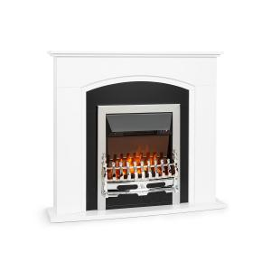 Verbier Electric Fireplace 1000 / 2000W LED Fire Remote Control MDF White