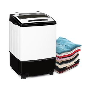 Bubble Boost Washing Machine 380W 3.5kg Timer 0-10 min. Black