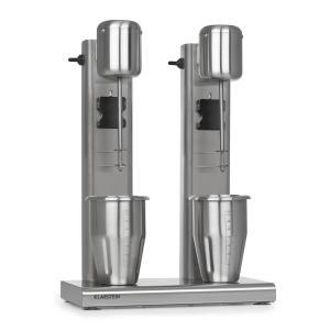 Kraftpaket II Doppel-Milchshake-Mixer Proteinshake 160W 2 Stufen Edelstahl silber 160 W