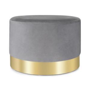 Bella pouf 35x50cm (AxØ) velluto grigio grigio