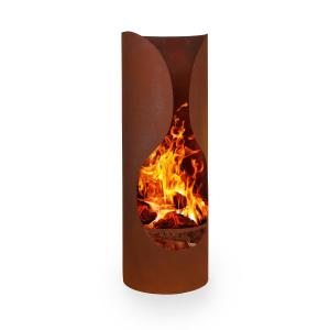 Verdon Rust Garden Fireplace Steel Fire-Resistant Rust Look Rust_look