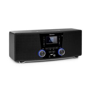 Stockton micro-stereoinstallatie max. 20W DAB+ FM CD speler BT OLED zwart