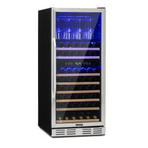 Vinovilla 116D royale wijnkoelkast 313L 116 flessen rvs 313_liter | 2 koelzones