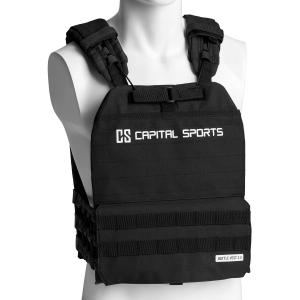 Battlevest 2.0 -painoliivi 8 kg (17,5 lbs) musta musta | 2_weight_plates_included