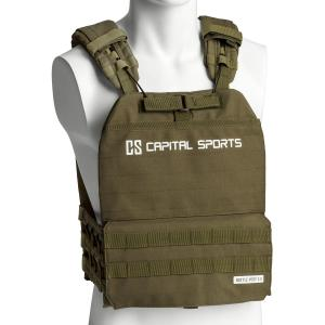 Battlevest 2.0 viktväst 8 kg (17,5 lbs) olivgrön Olive_green | 2_weight_plates_included