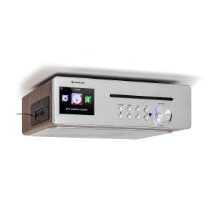 Silverstar Chef Kitchen Radio 20W Max. CD BT USB Internet / DAB + / FM Silver Silver