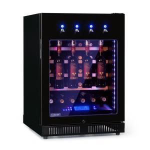 First Class 36 Weinkühlschrank 4 Dispenser 36 Flaschen 5-22°C Touch Edelstahltür schwarz 36 Flaschen