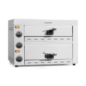 Vesuvio II forno per pizza 2 camere di cottura 2260W 300°C acciaio inox argento 2_compartments