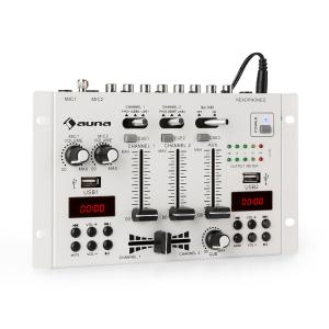 DJ-22BT MKII Mixer 3/2-Channel DJ Mixer BT 2xUSB Rack Mount white White