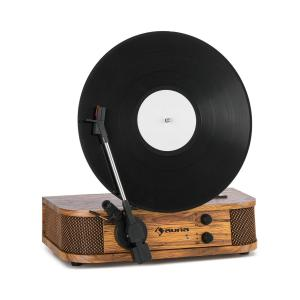 Verticalo SE Retro Turntable USB BT Line-Out wood With_bluetooth