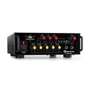 Amp EQ BT HiFi Karaoke Amplifier 2 x 30W RMS BT USB SD 2 x Mic Input With_bluetooth