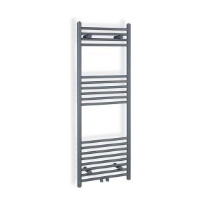 """Fino 120 x 45 Termosifone 387W Porta Asciugamani 1/2"""" 4-8m² grigio 120 cm"""