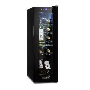 Shiraz 12 Slim Weinkühlschrank 32l/12Fl. Touch-Bedienfeld 85W 5-18°C LED schwarz 32 Liter/12 Flaschen