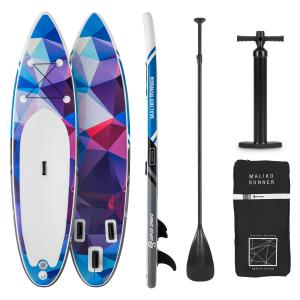 Maliko Runner Tabla de paddle surf hinchable SUP-Board-Set color azul/rojo Blue_red