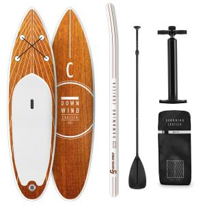 Downwind Cruiser M SUP-Board - Aufblasbares Paddleboard Set 330x15x77 orange M - 330 x 15 x 77 cm