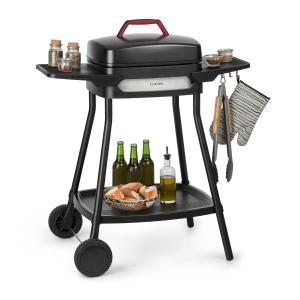 Gatsby Electric Grill 2000W Non-Stick Grill Surface Side Tables Black Black