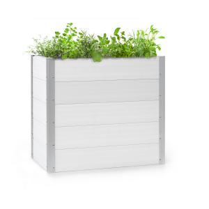 Nova Grow Aiuola da Giardino 100x91x50 cm WPC Effetto Legno bianco 100 x 91 x 50 cm