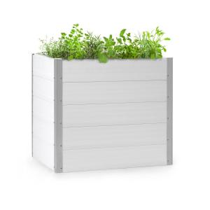 Nova Grow Potager surélevé 100 x 91 x 100 cm WPC aspect bois blanc 100 x 91 x 100 cm