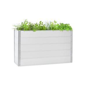 Nova Grow Aiuola da Giardino 150x91x50 cm WPC Effetto Legno bianco 150 x 91 x 50 cm