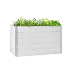Nova Grow Potager surélevé 150 x 91 x 100 cm WPC aspect bois blanc 150 x 91 x 100 cm