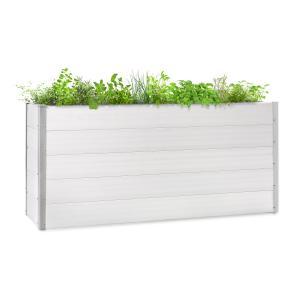 Nova Grow Potager surélevé 195 x 91 x 50 cm WPC aspect bois blanc 195 x 91 x 50 cm
