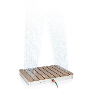 Sumatra Breeze SQ, prysznic ogrodowy, WPC, aluminium 70x55cm, kwadratowy Square
