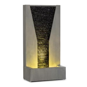 Riverrun Fontana da Giardino In/Outdoor Pompa 12W LED Cavo 10m zincata