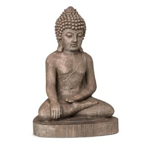 Gautama Gartenfigur 43 x 61 x 34 cm Fibreclay braun
