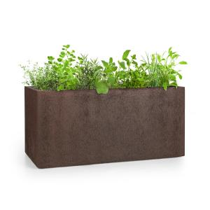 Solid Grow Rust Maceta 80 x 38 x 38 cm Fibreclay Color óxido  80 x 38 x 38 cm