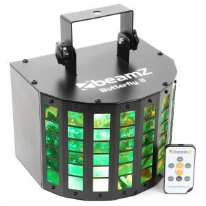 Butterfly II LED mini derby -valaisin 6 x 3 W RGBAWP infrapuna