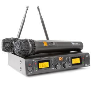 PD781 sistema de microfone UHF com 2 x 8 canais sem fios