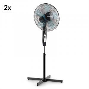 "Black Blizzard 2G Stand Fan 2-Piece Set 41 cm (16"") 50 W Black"
