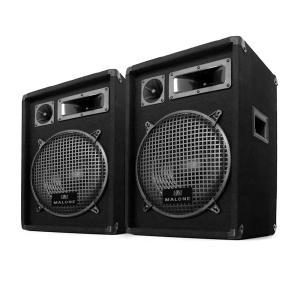 "2 Enceintes Passives DJ PA pro sono 800W subwoofer 10"" disco kit"