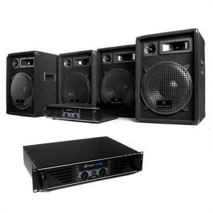 """Bass Mountain"" 2000W System DJ PA Set 4 x Speakers, Amplifier, Mixer"