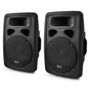 SP1000A Paar PA-Lautsprecher 25cm Aktiv-Box 2x500W ABS