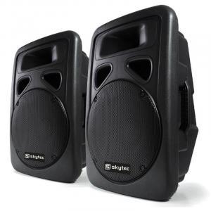 Paar PA-luidsprekers Skytec 30 cm actieve box 1200W ABS