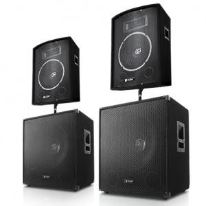 "PA-set ""Berlin Bassline"" 2000 Watt 2.2 Set 2 Box 2 Subwoofer"