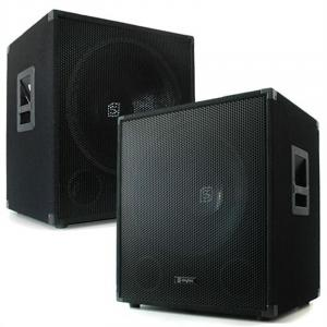 Coppia casse bassi dj altoparlante bass subwoofer 38cm