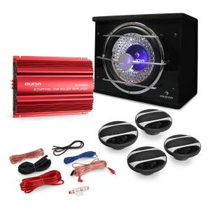 "Car Hifi Set ""Madrid"" 4.1 3000W luidsprekers, bass & versterker"