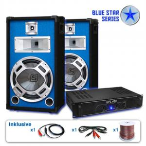 Blu Star Set audio casse amplificatore subwoofer 1200W
